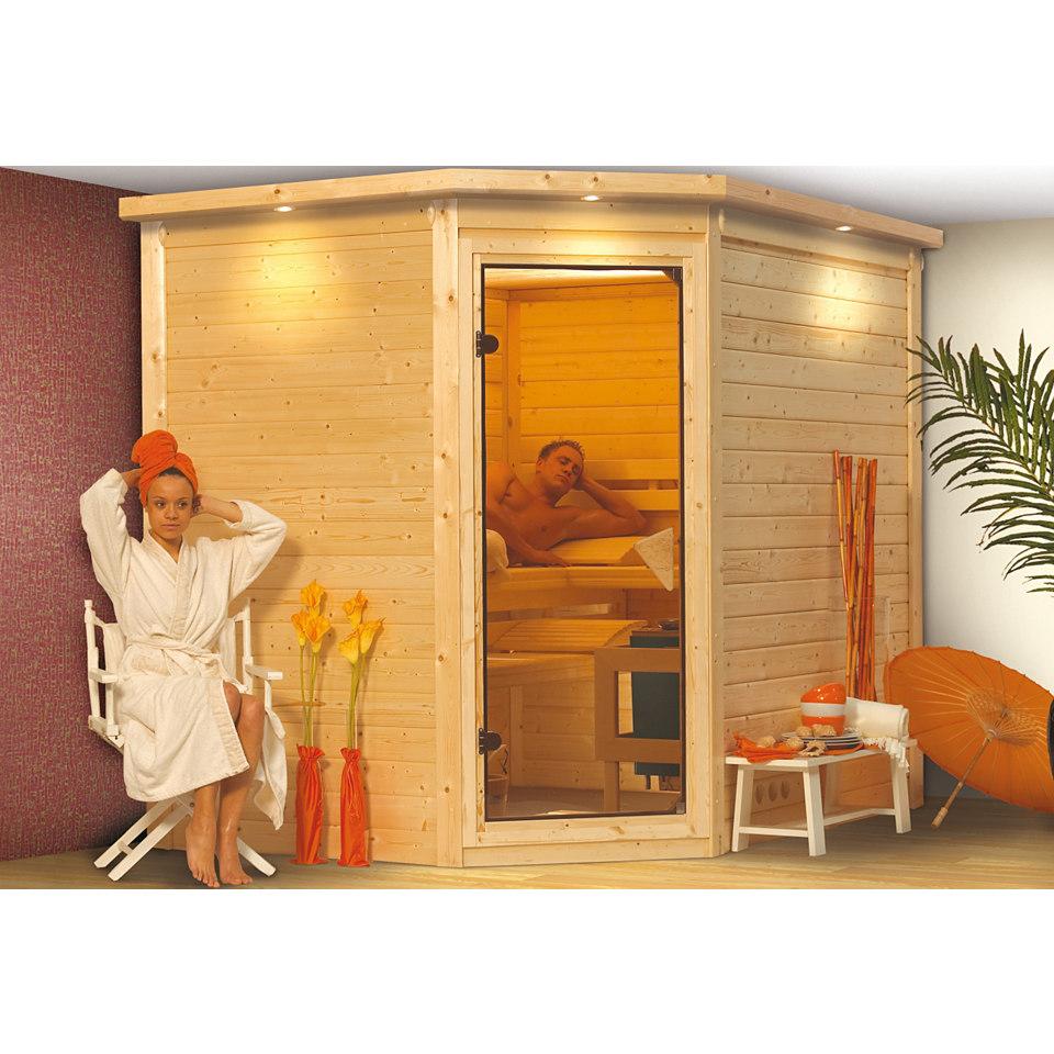 Sauna »Tanami«, 40 mm Wandstärke