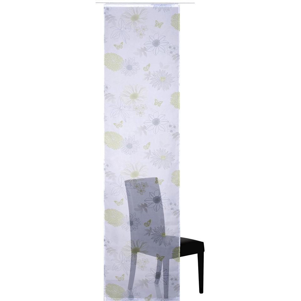 Schiebevorhang, Elbersdrucke, �FLOWER MIX� (1 St�ck ohne Zubeh�r)