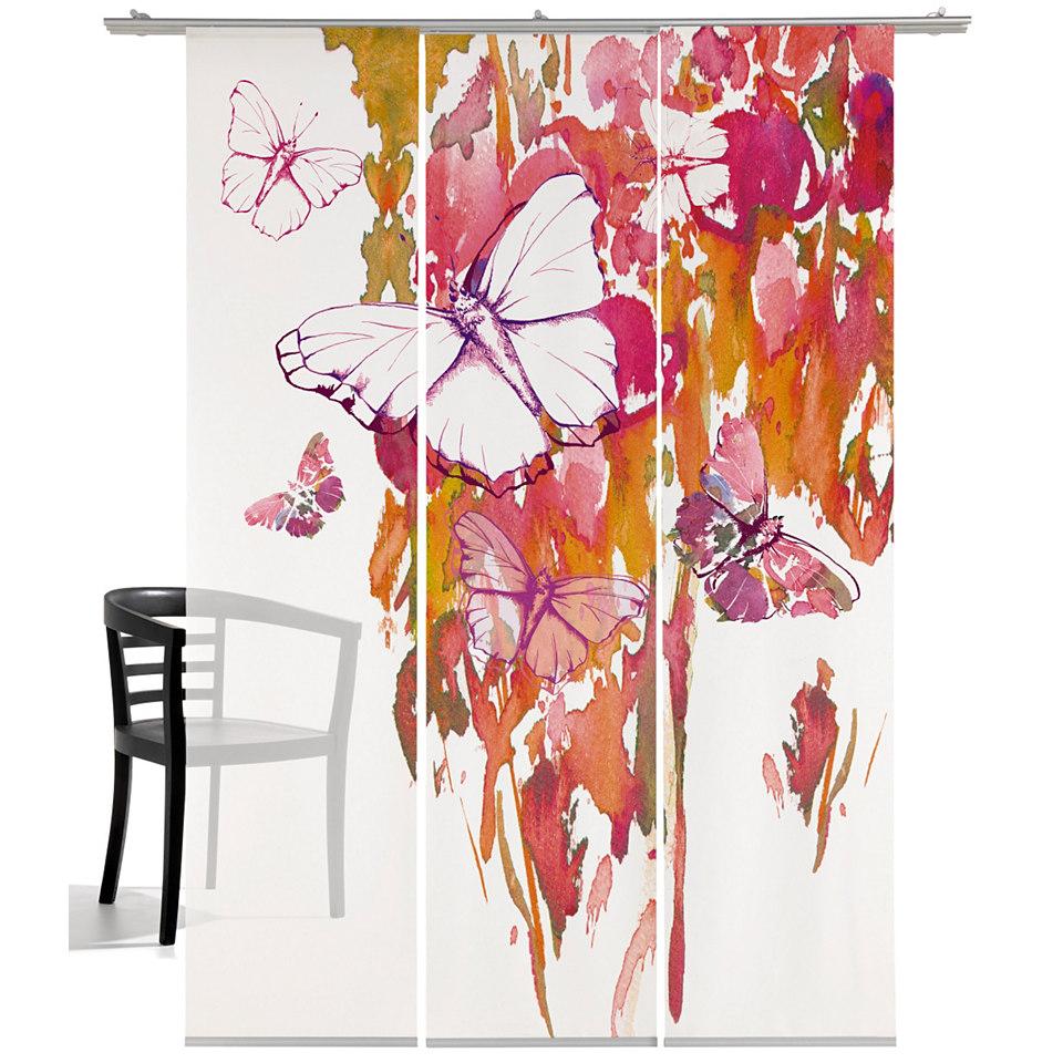 Schiebevorhang, Emotiontextiles, �Butterfly� (3 St�ck mit Zubeh�r)