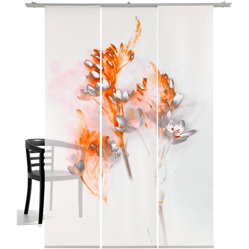 Schiebevorhang, Emotiontextiles, »Floralzauber« (3 Stück mit Zubehör)