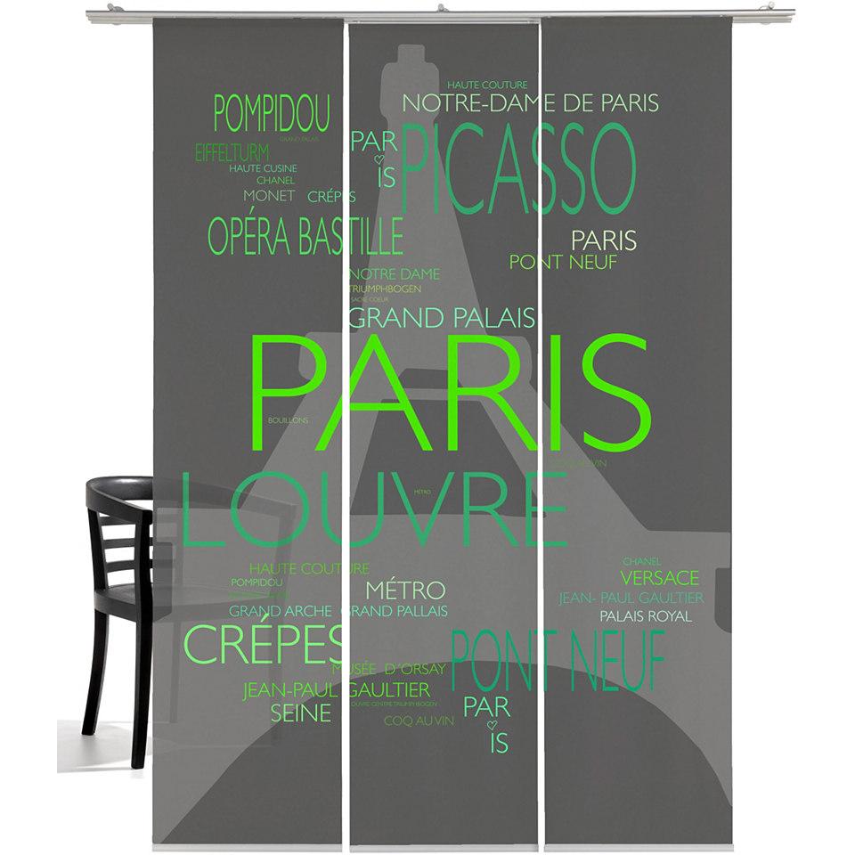 Schiebevorhang, Emotiontextiles, �La Tour Eiffel� (3 St�ck mit Zubeh�r)