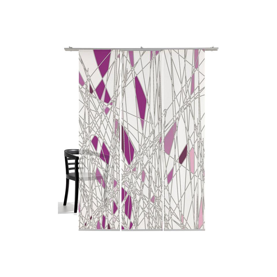 Schiebevorhang, Emotiontextiles, »Labyrinth« (3 Stück mit Zubehör)