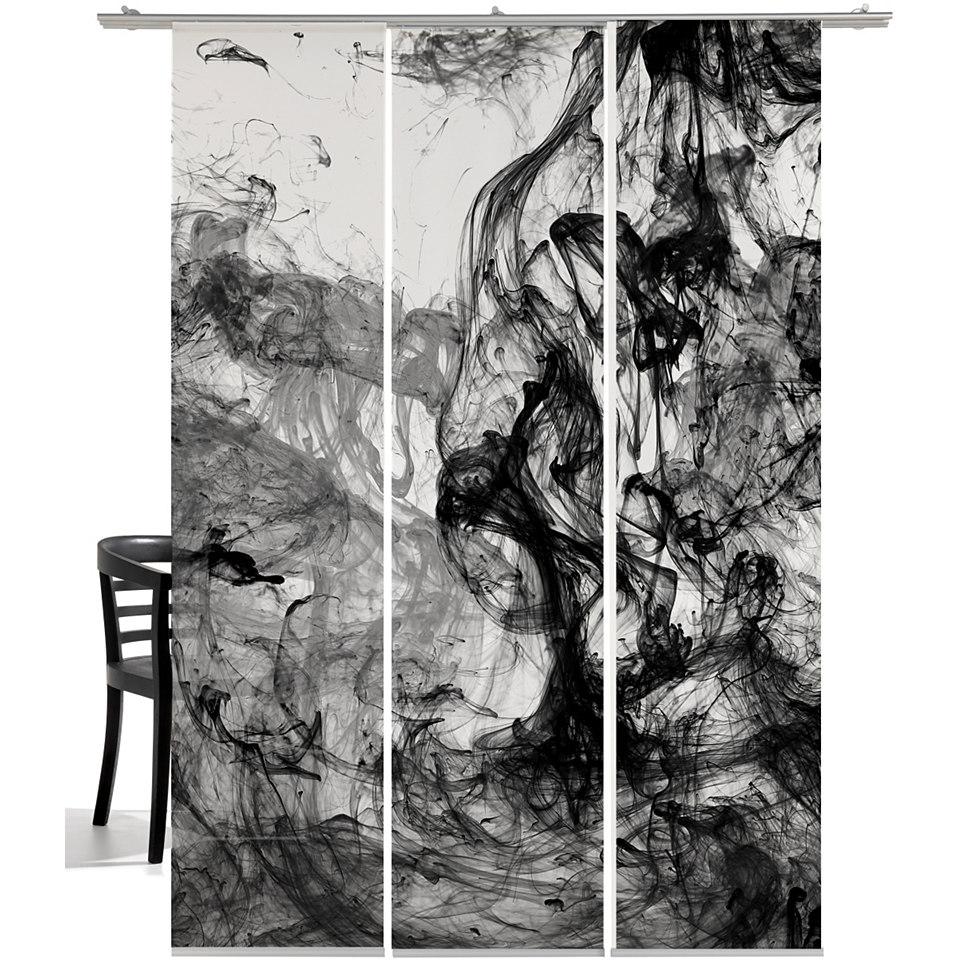 Schiebevorhang, Emotiontextiles, »Storm of colours« (3-tlg. incl. Technik)