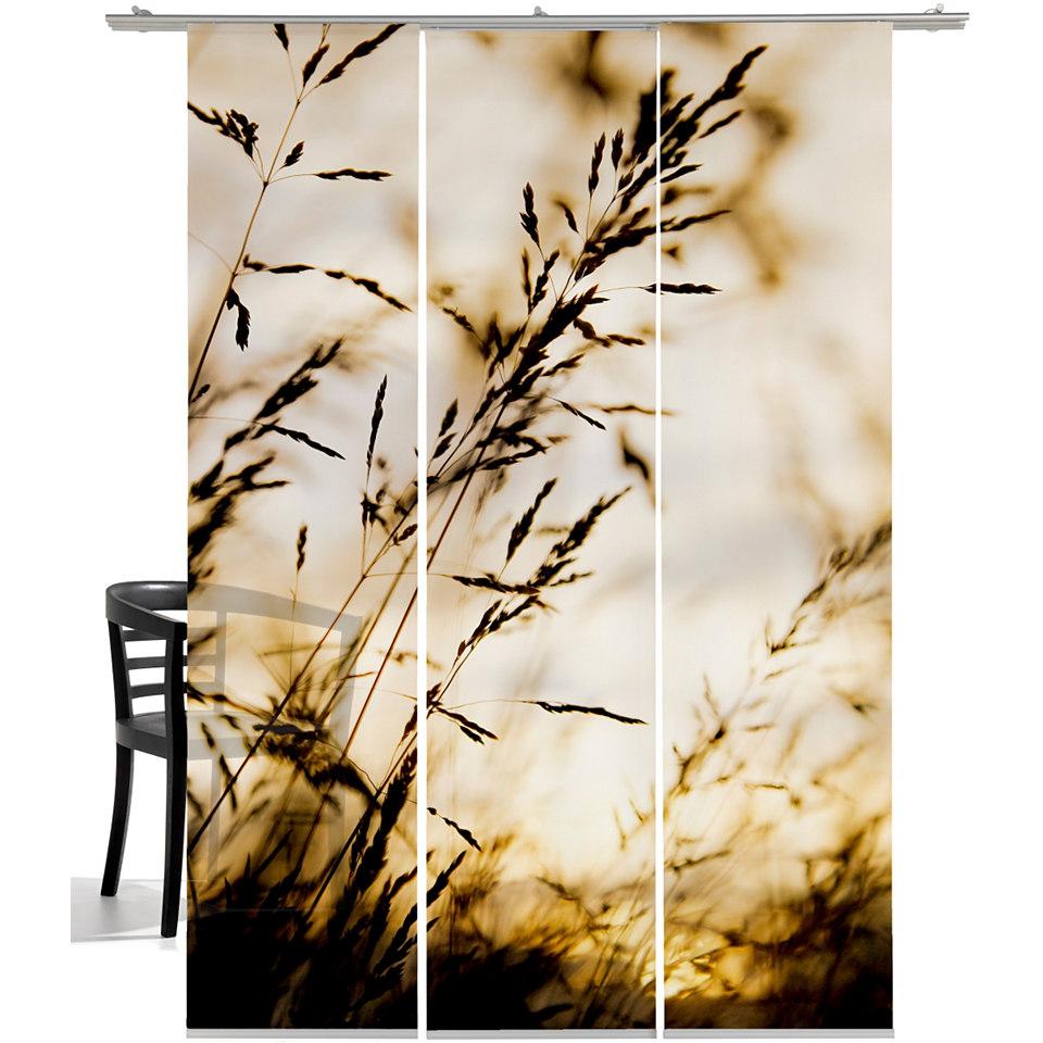 Schiebevorhang, Emotiontextiles, »Windrausch Sepia« (3 Stück mit Zubehör)