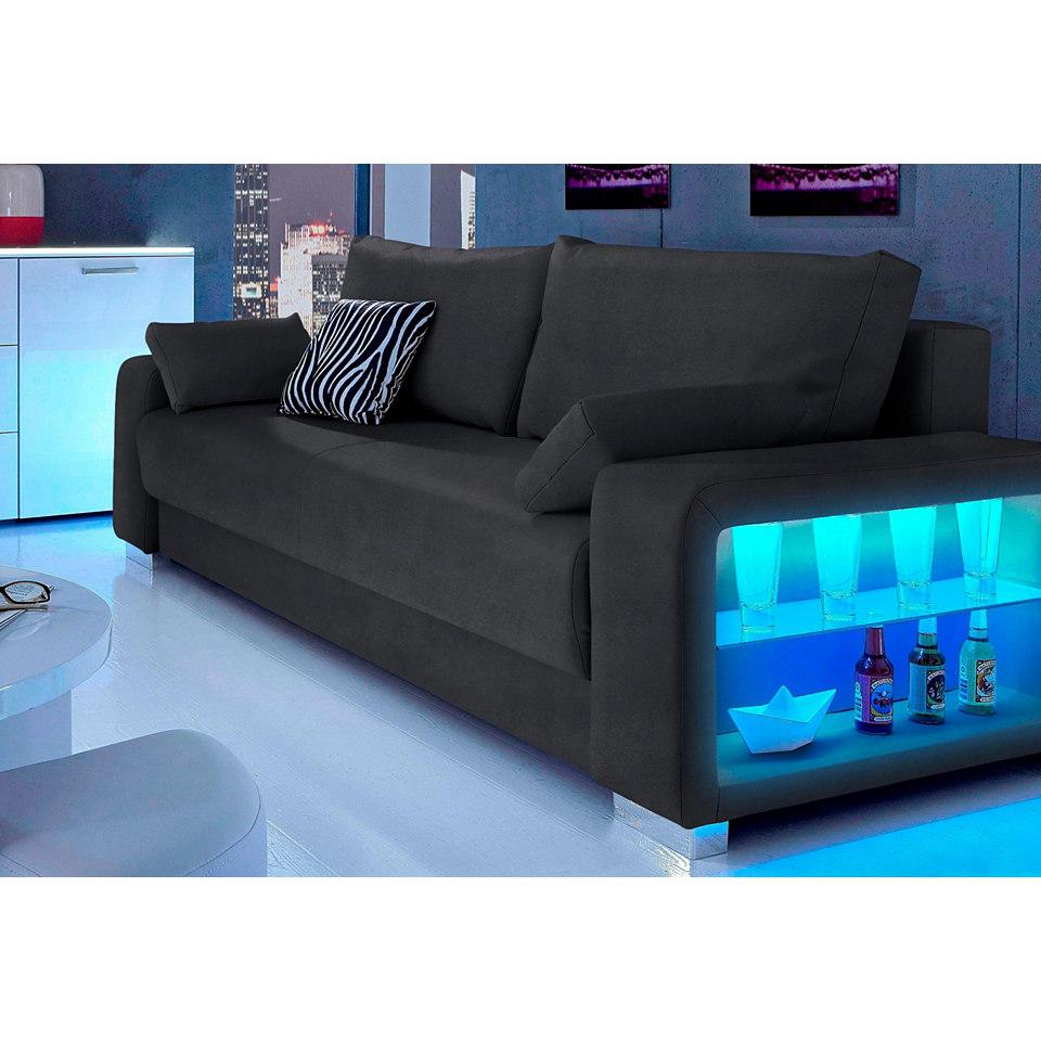 Schlafsofa, Inosign, 3-Sitzer, wahlweise mit Beleuchtung