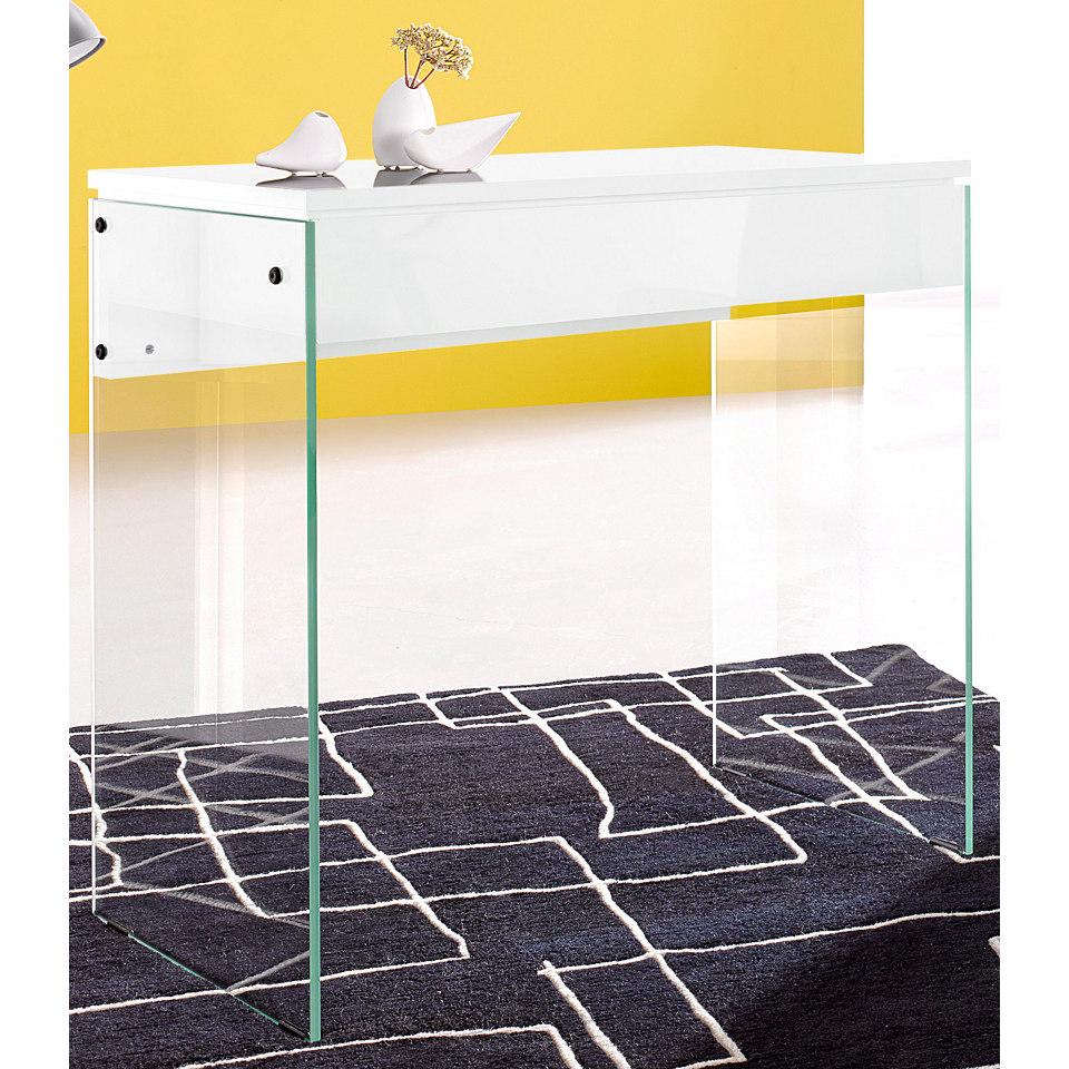 Schreibtisch, Inosign, mit Glasbeinen, in 2 Breiten