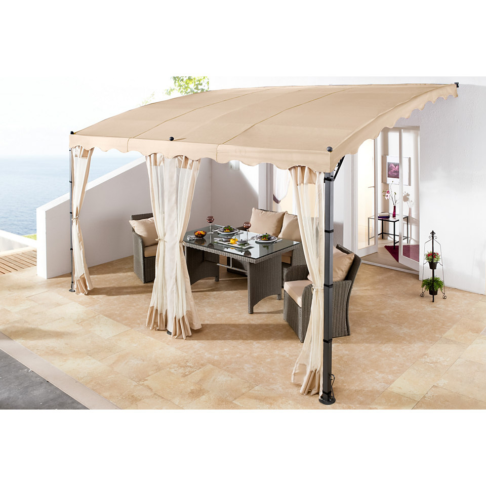 seitenw nde f r anbaupergola mallorca 3 x 4 m in sand 3 stck. Black Bedroom Furniture Sets. Home Design Ideas