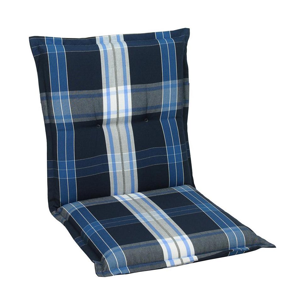 Sesselauflagen »Karo blau« (2 Stck.)