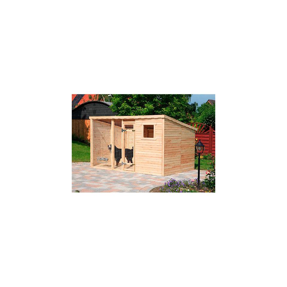 Set: Holzfußboden für Hundezwinger mit einer Erweiterung (2-tlg.)