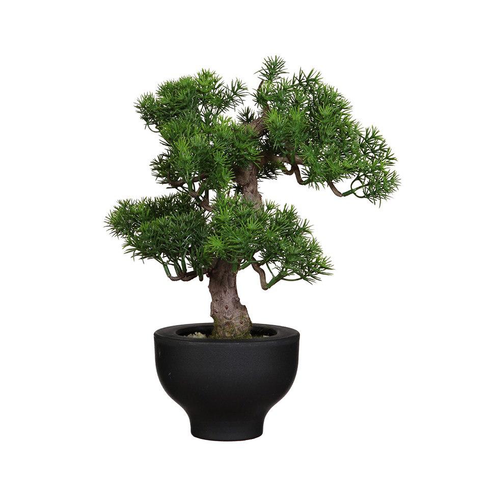 Set: Kunstpflanze Bonsai Japanische Kiefer inkl. Topf