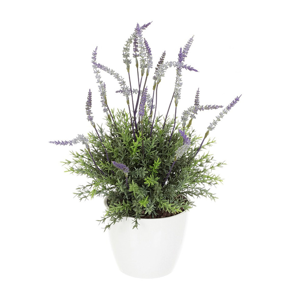 Set: Kunstpflanze Lavendelbusch inkl. Topf