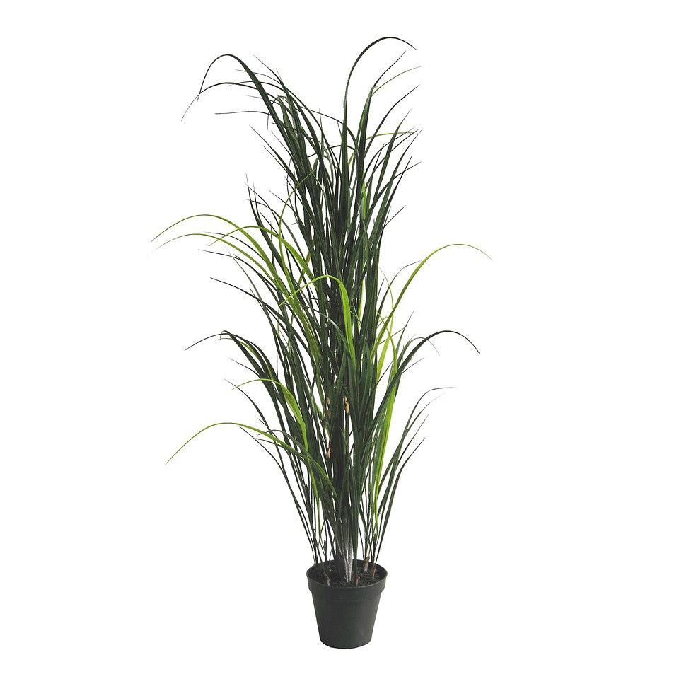 Set: Kunstpflanze Miscanthus inkl. Topf