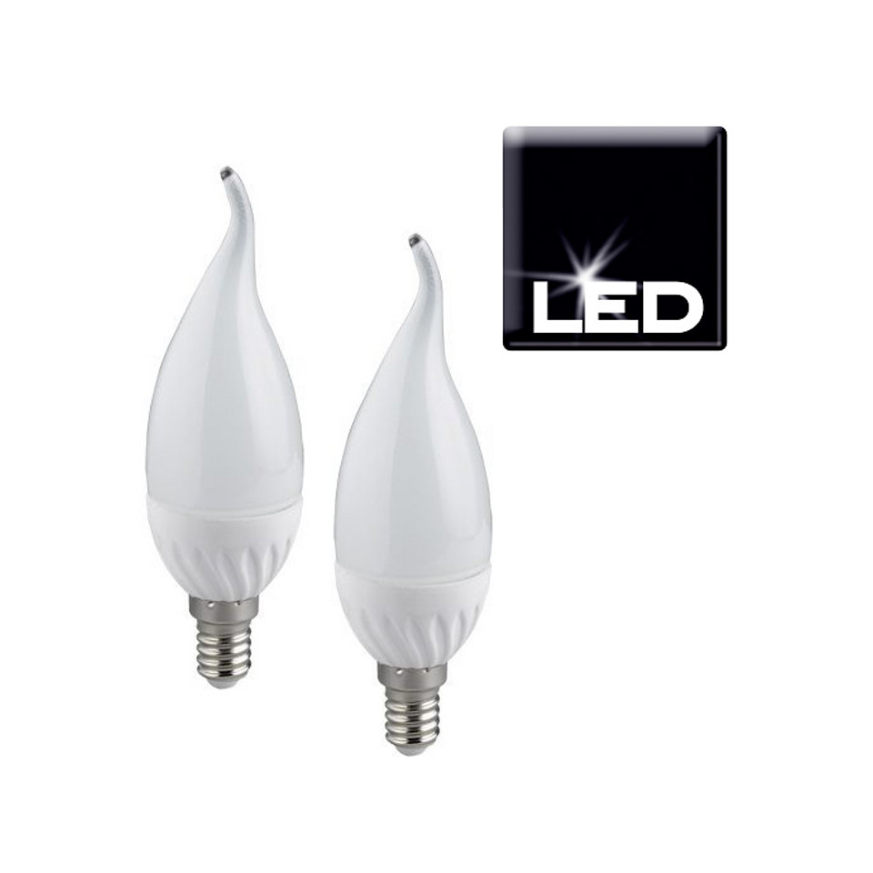Set: LED-Leuchtmittel, Trio, »E14 Windstoßkerze«, (2er Pack)