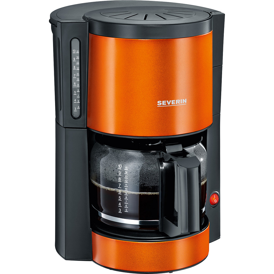 Severin Kaffeemaschine KA 9737, orange-metallic-schwarz