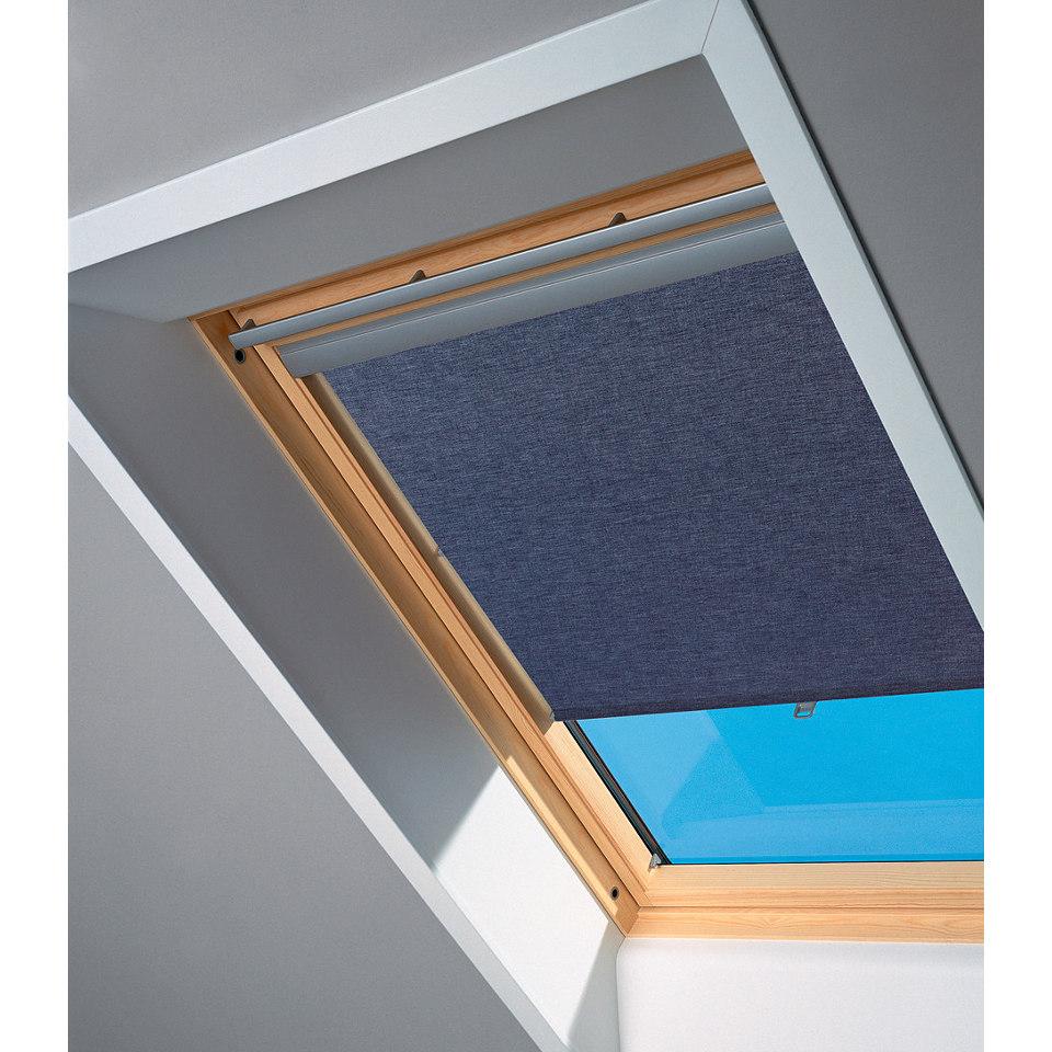 Sichtschutzrollo in dunkelblau