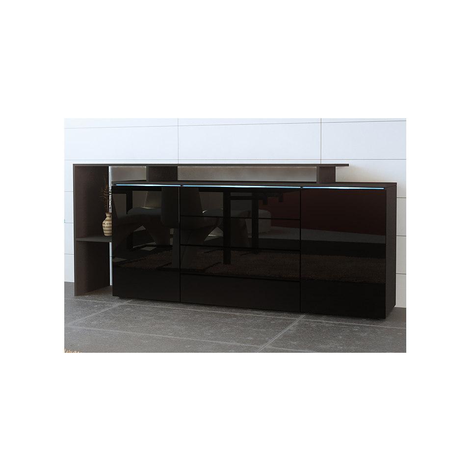 Sideboard mit seitlichem Regal, Breite 187 cm