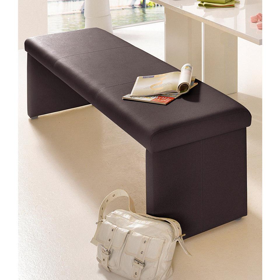 Sitzbank, wahlweise mit Rückenlehne