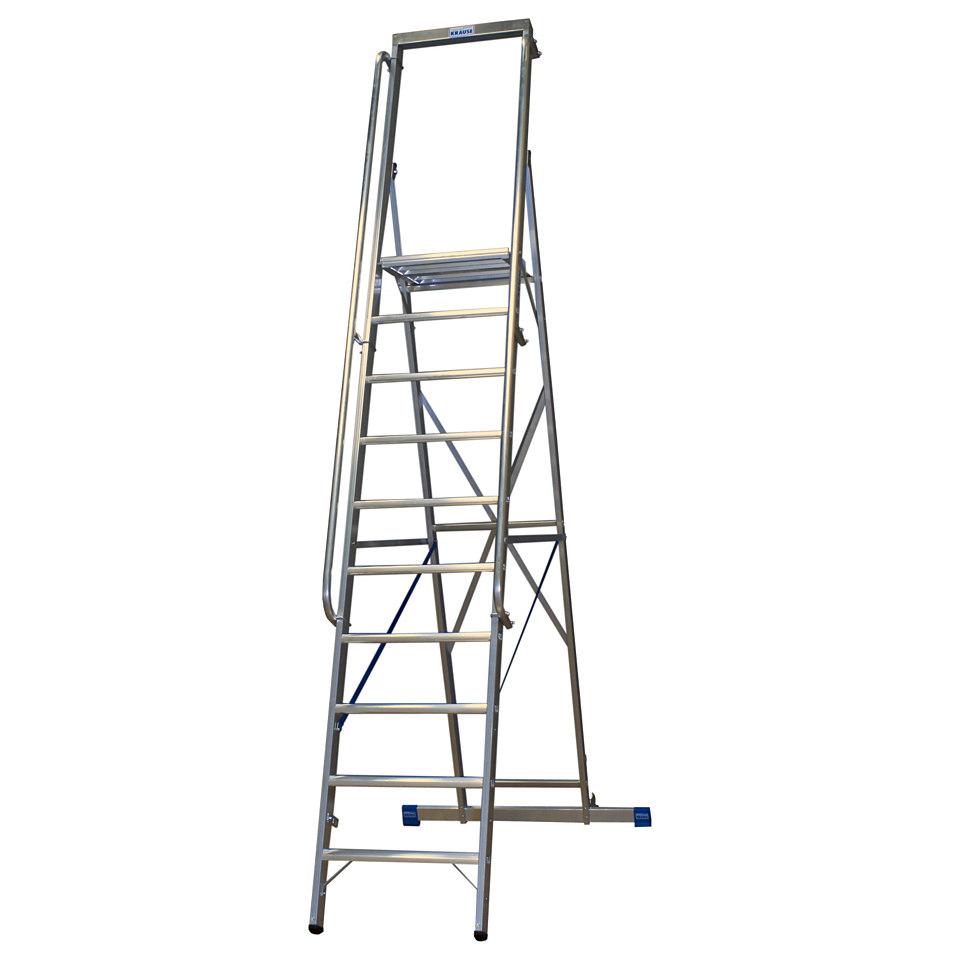 Stehleiter �Stabilo Gr. Platte�, 6-14 Stufen