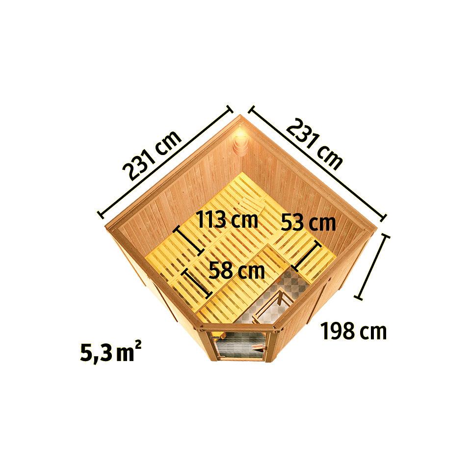 Systemsauna �Manuela�, 68 mm Wandst�rke mit D�mmung