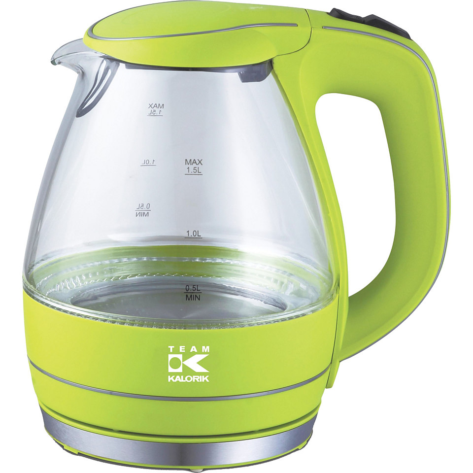 TKG Design Glas-Wasserkocher JK1022AG, 1,5 Liter, 2200 Watt