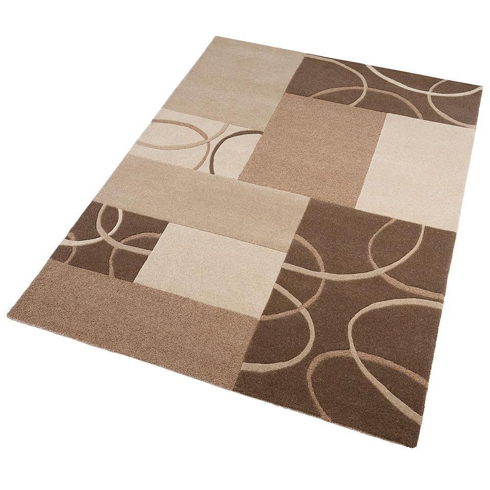 Teppich, Ecorepublic, »Paul«, handgearbeitet, Wolle , 3,8 kg/m²
