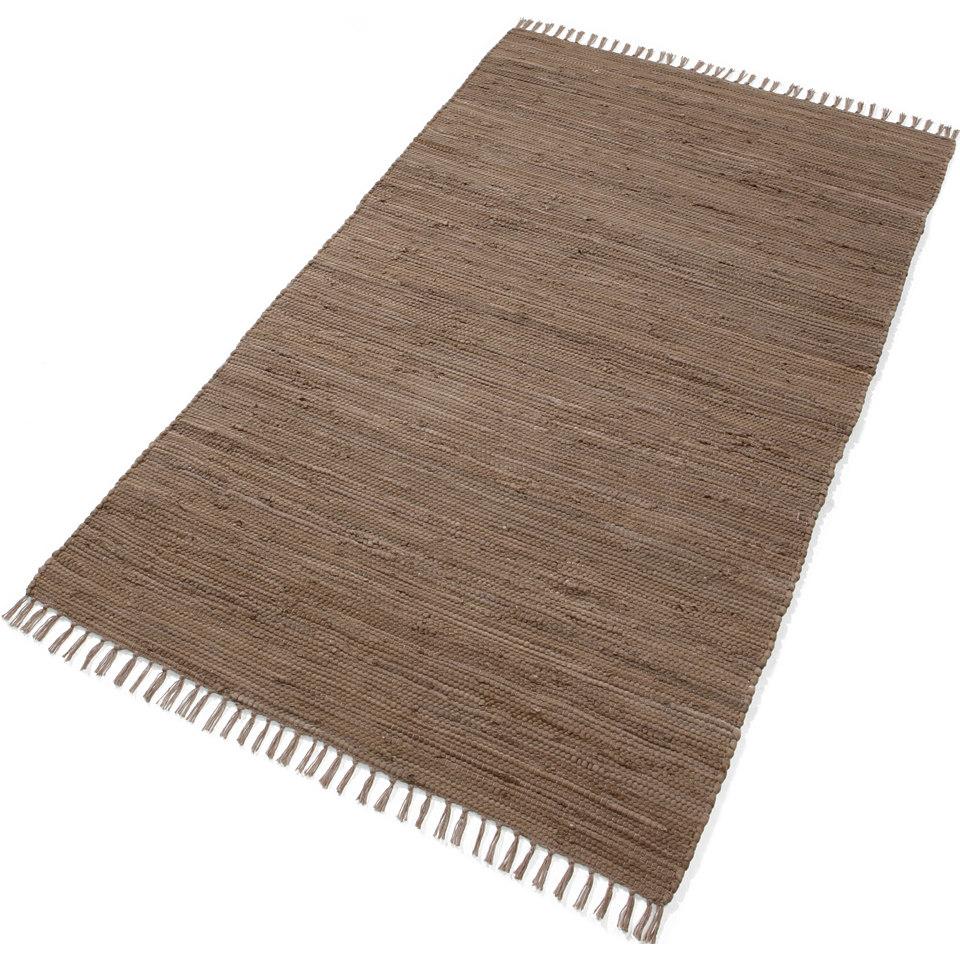 Teppich, »Handweb Uni«, handgewebt, reine Baumwolle, Ecorepublic Home