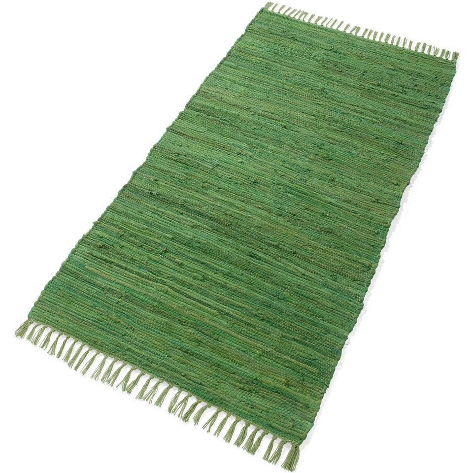 Teppich, �Handweb Uni�, handgewebt, reine Baumwolle, Ecorepublic Home