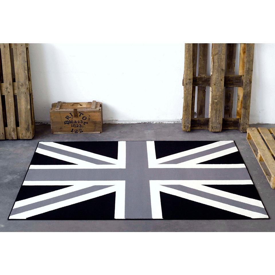 Teppich, Hanse Home, »Union Jack Schwarz Creme«