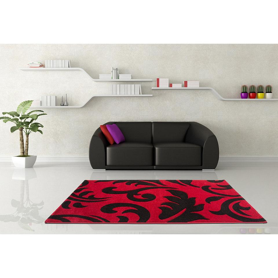 Teppich, Lalee, »Havanna 415«, handgearbeiteter Konturenschnitt, gewebt