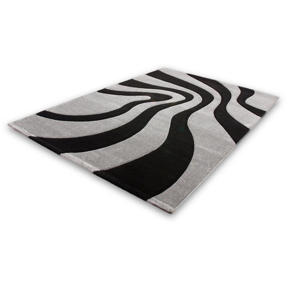 Teppich, Lalee, �Lambada 452�, handgearbeiteter Konturenschnitt, gewebt