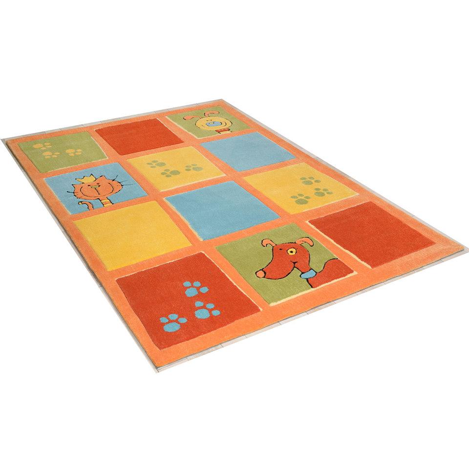 Teppich »Lustige Haustiere«, handgearbeitet, Theko