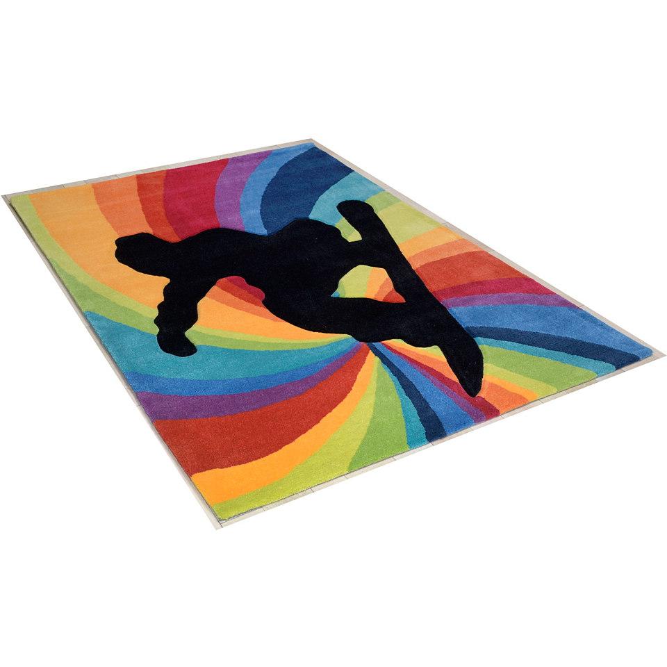Teppich �Snowboarder�, Theko, handgearbeitet