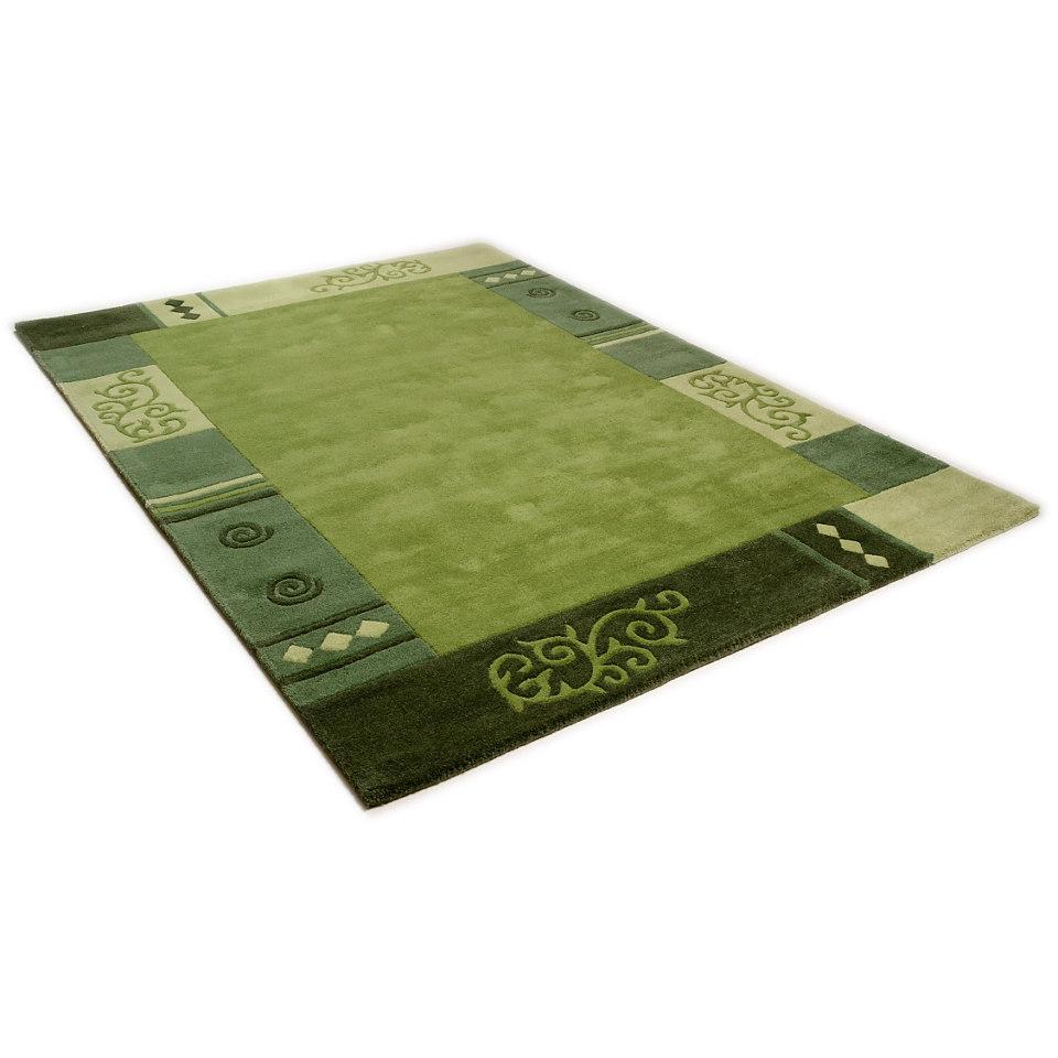 Teppich, Theko, »Ambadi«, handgearbeiteter Konturenschnitt, handgetuftet, reine Schurwolle