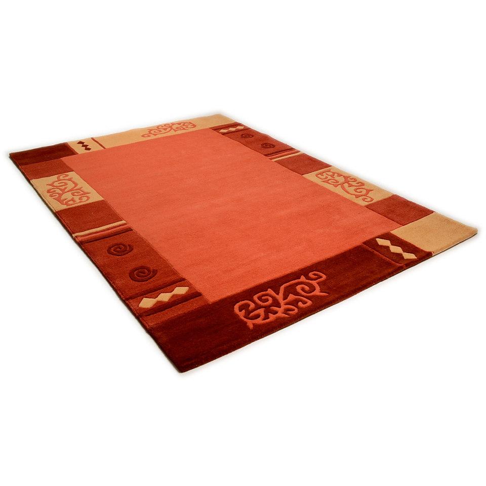Teppich, Theko, �Ambadi�, handgearbeiteter Konturenschnitt, handgetuftet, reine Schurwolle
