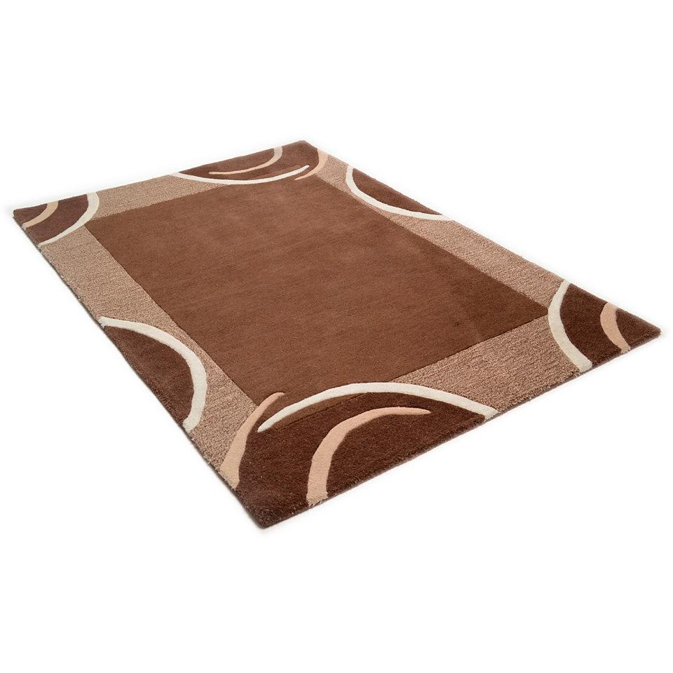 Teppich, Theko, �Bellary�, handgearbeiteter Konturenschnitt, handgetufet, reine Schurwolle