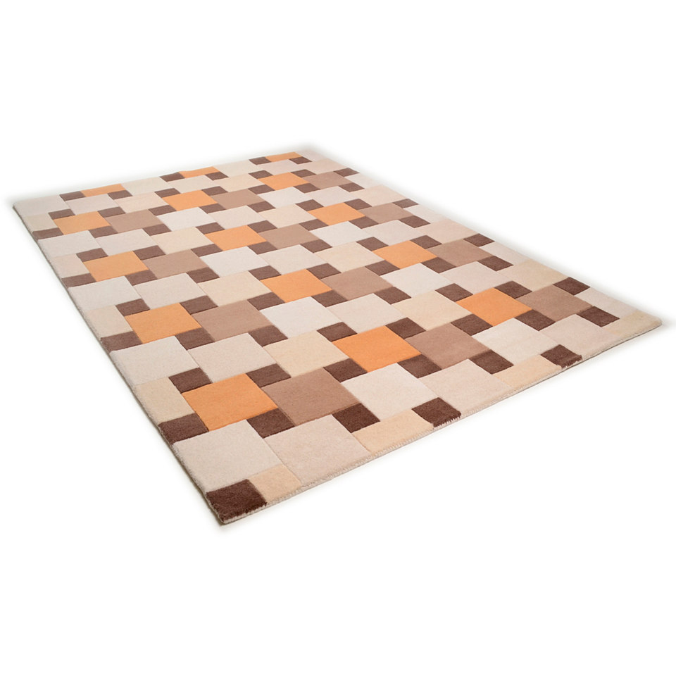 Teppich, Theko, �Como 6831�, handgearbeiteter Konturenschnitt, handgetuftet, reine Schurwolle