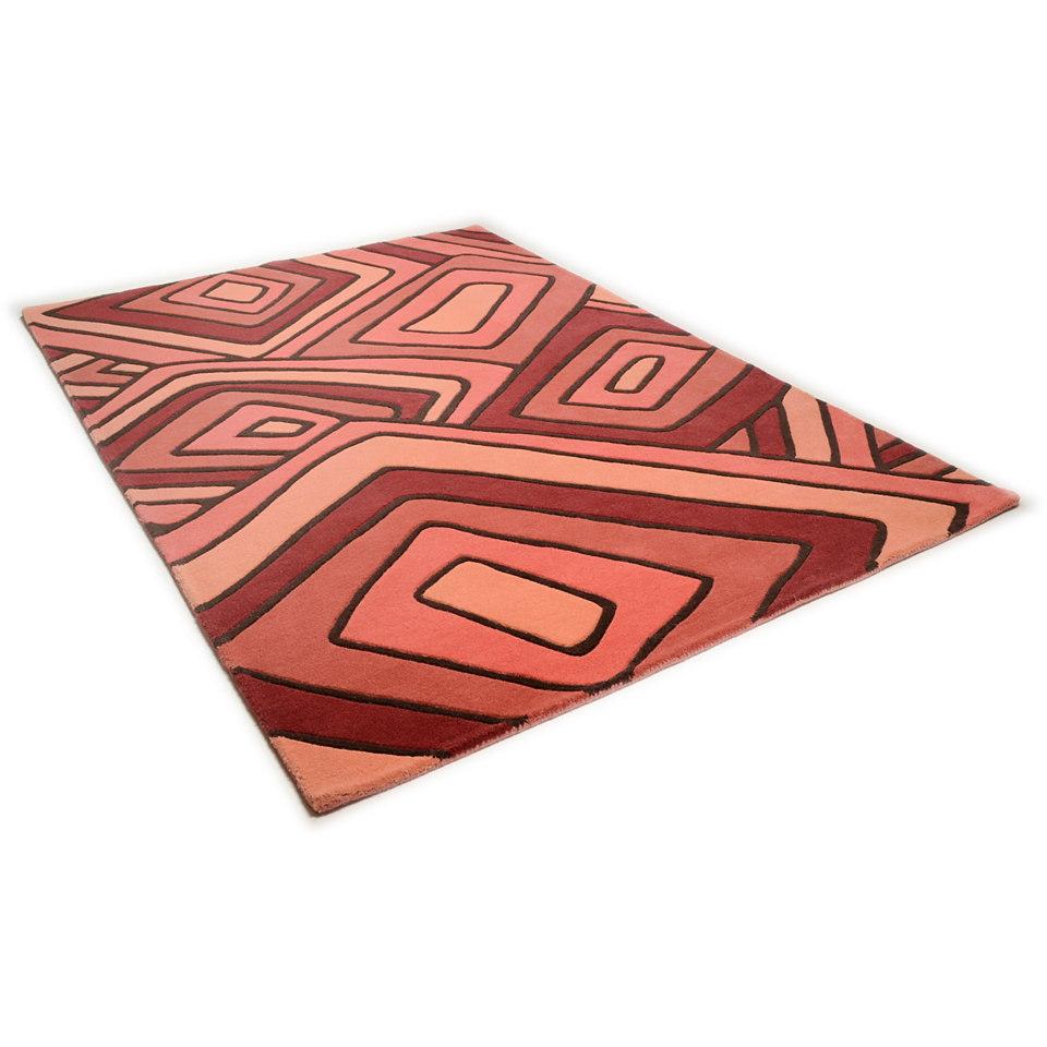 Teppich, Theko, »Como 6839«, handgearbeitet, Wolle