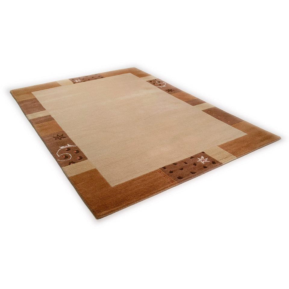 Teppich, Theko, »Ganges 991«, handgearbeiteter Konturenschnitt, handgeknüpft