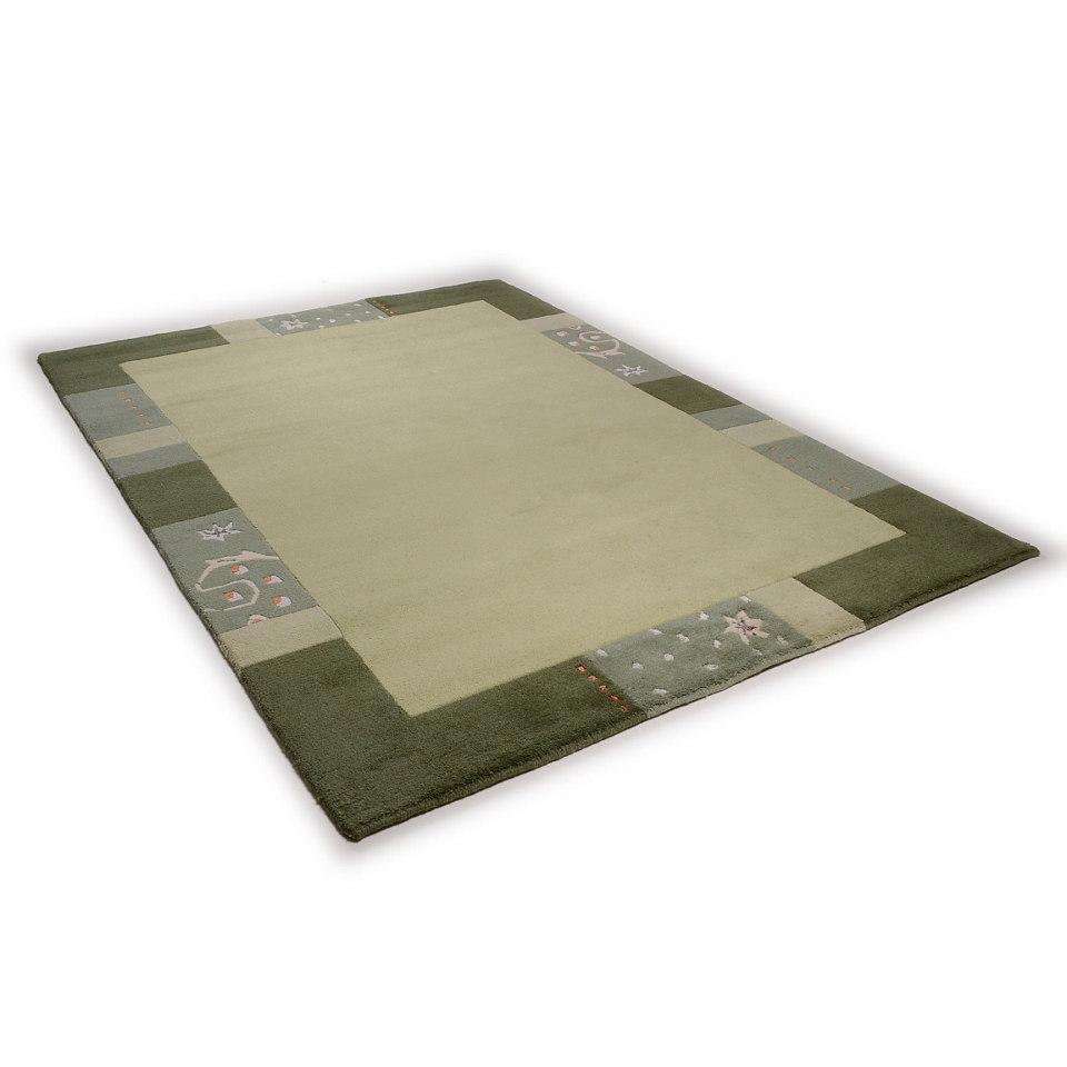 Teppich, Theko, �Ganges 991�, handgearbeiteter Konturenschnitt, handgekn�pft
