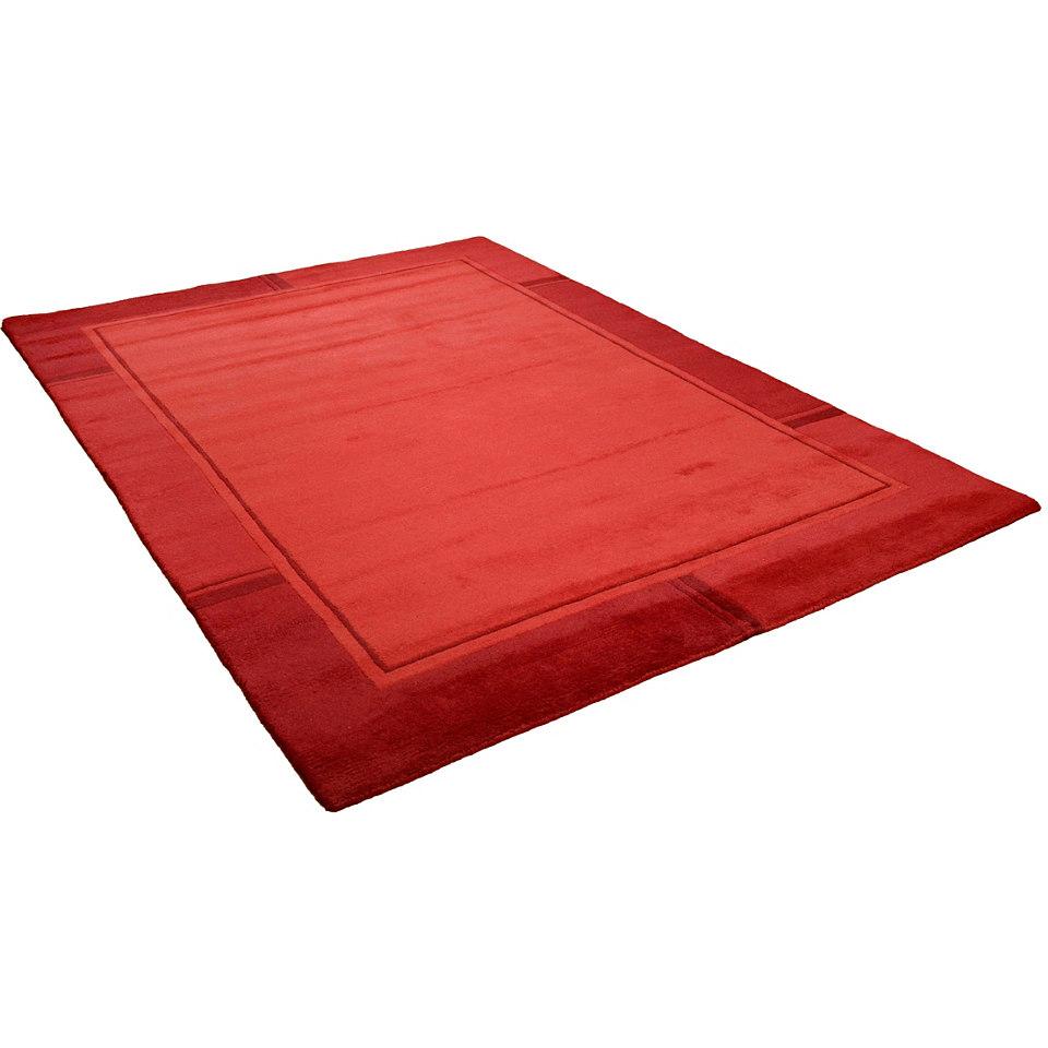 Teppich, Theko, »Ganges«, handgearbeiteter Konturenschnitt, handgeknüpft