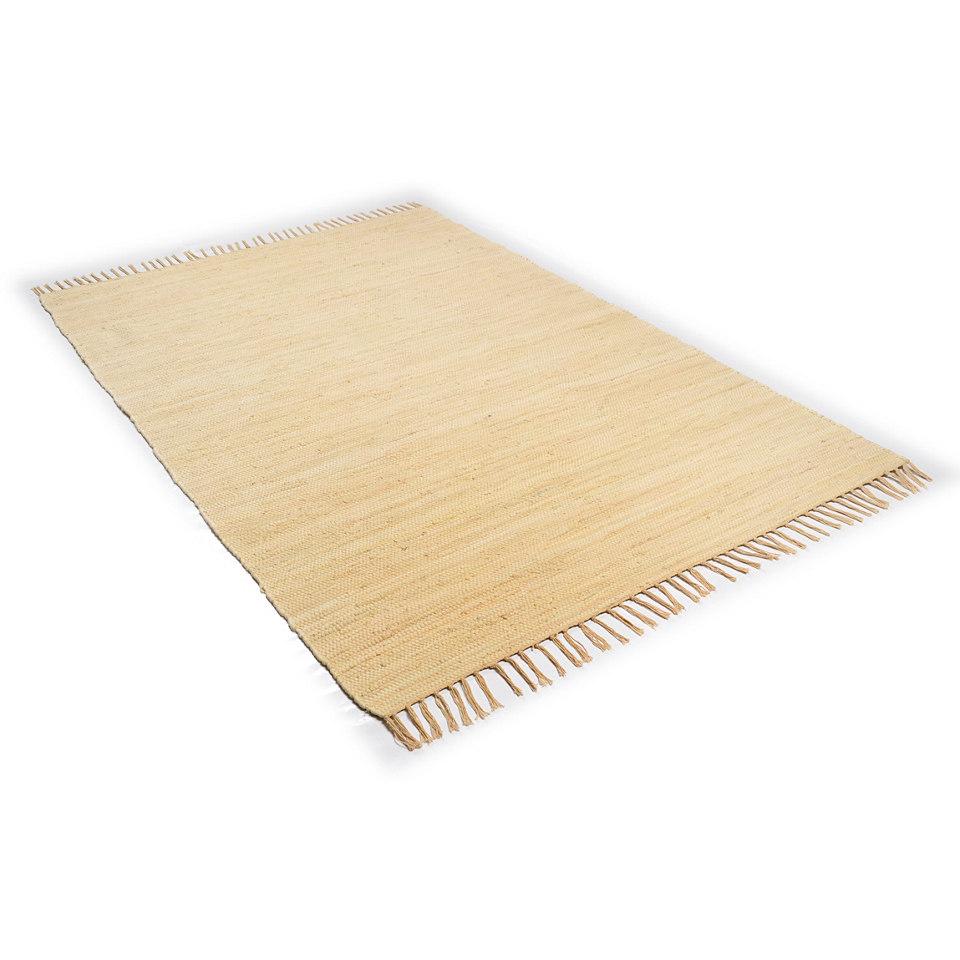 Teppich, Theko, �Happy Cotton�, Melange-Effekt, handgewebt, reine Baumwolle