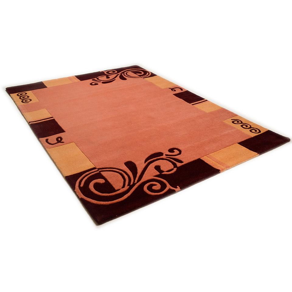 Teppich, Theko, �Hawai 6188�, handgearbeiteter Konturenschnitt, handgetuftet, reine Schurwolle