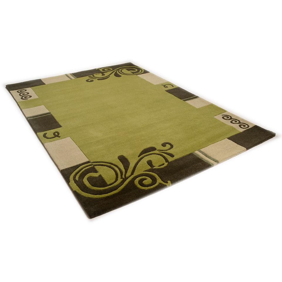 Teppich, Theko, »Hawai 6188«, handgearbeiteter Konturenschnitt, handgetuftet, reine Schurwolle