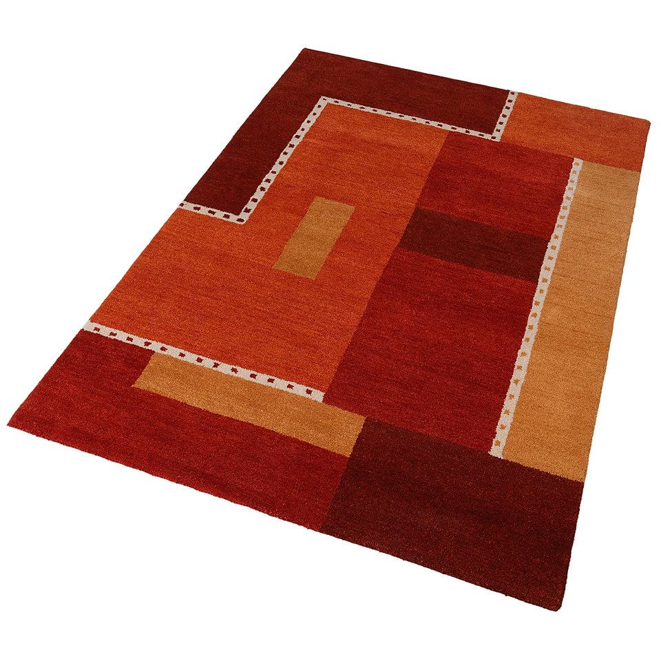 Teppich, Theko, �Jasper�, handgearbeitet, Wolle , 3,8 kg/m�