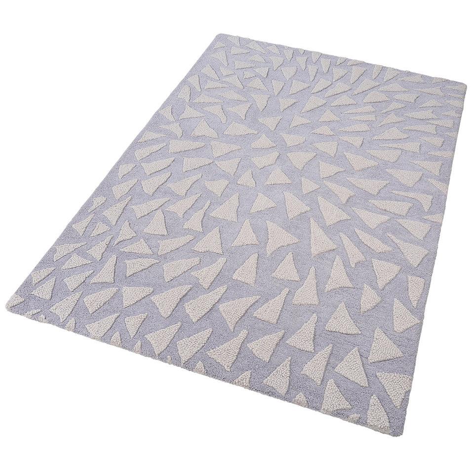 Teppich, Theko, »Jenny«, handgearbeitet, Wolle, 4,2 kg/m²