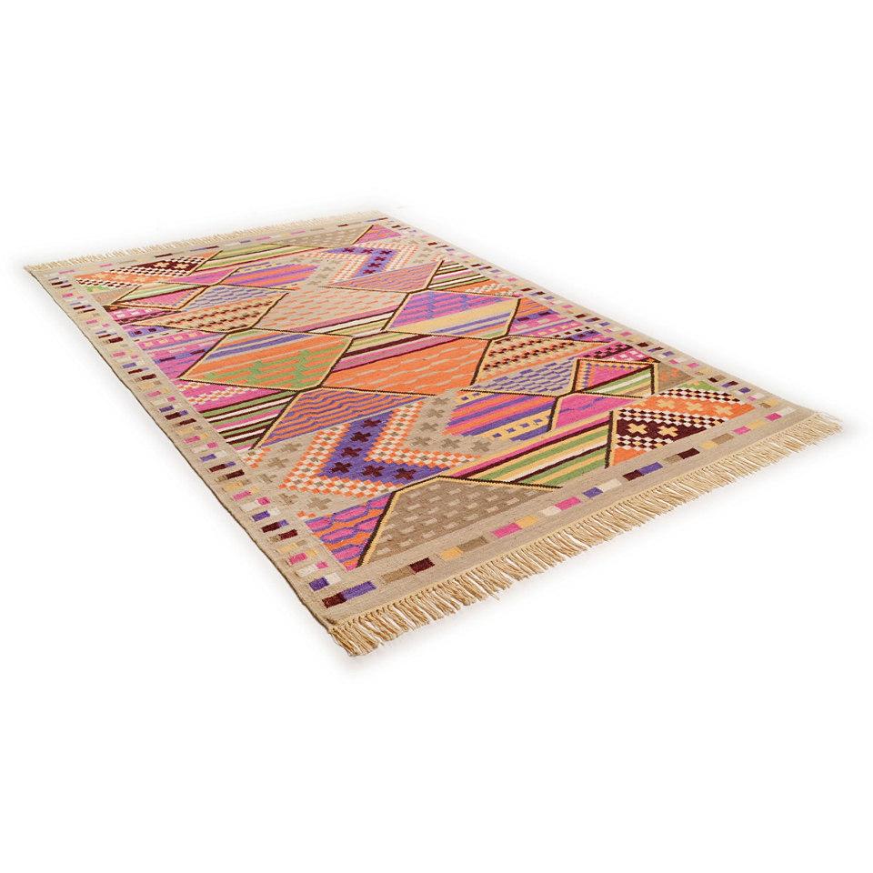 Teppich, Theko, �Kelim Deluxe 2�, handgewebt, reine Schurwolle