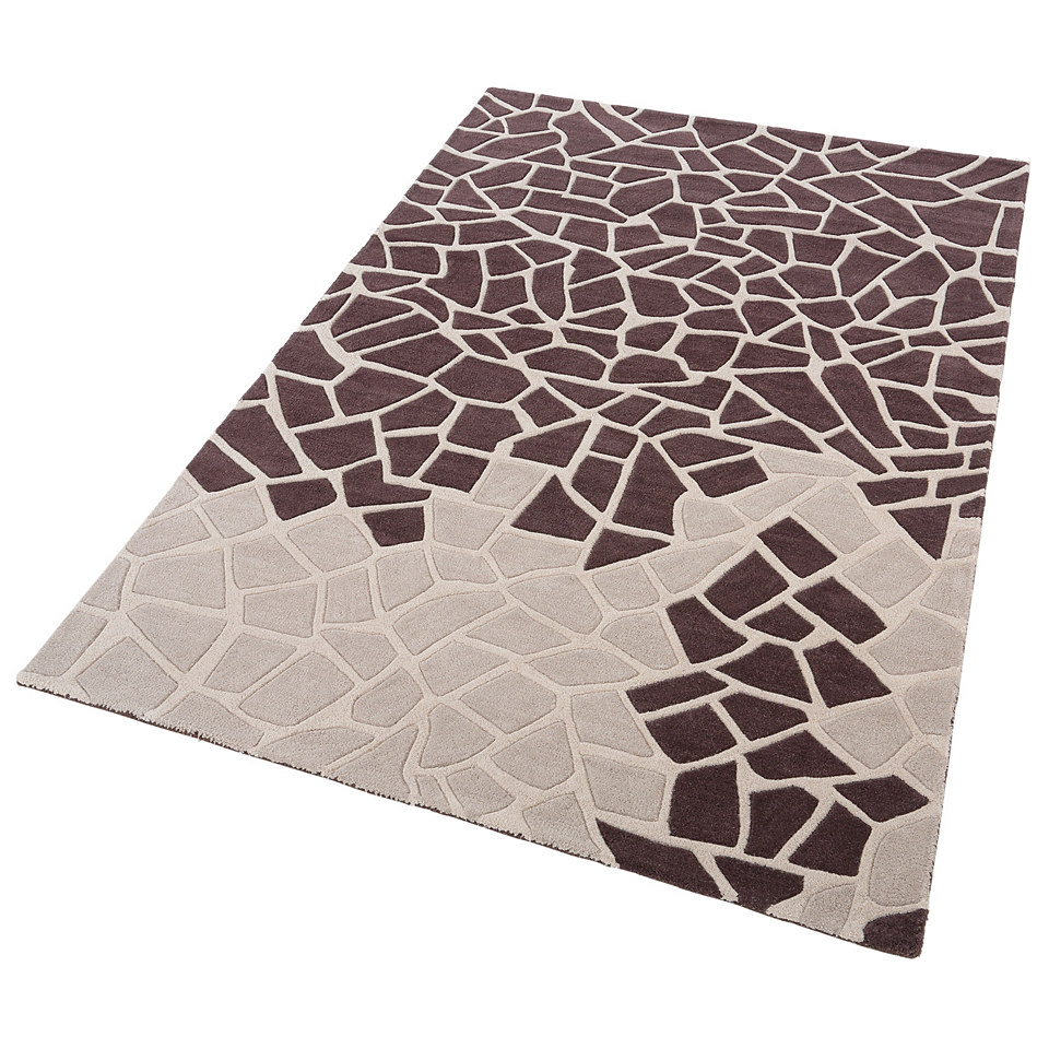 Teppich, Theko, �Lia�, handgearbeiteter Konturenschnitt, handgetuftet, reine Schurwolle