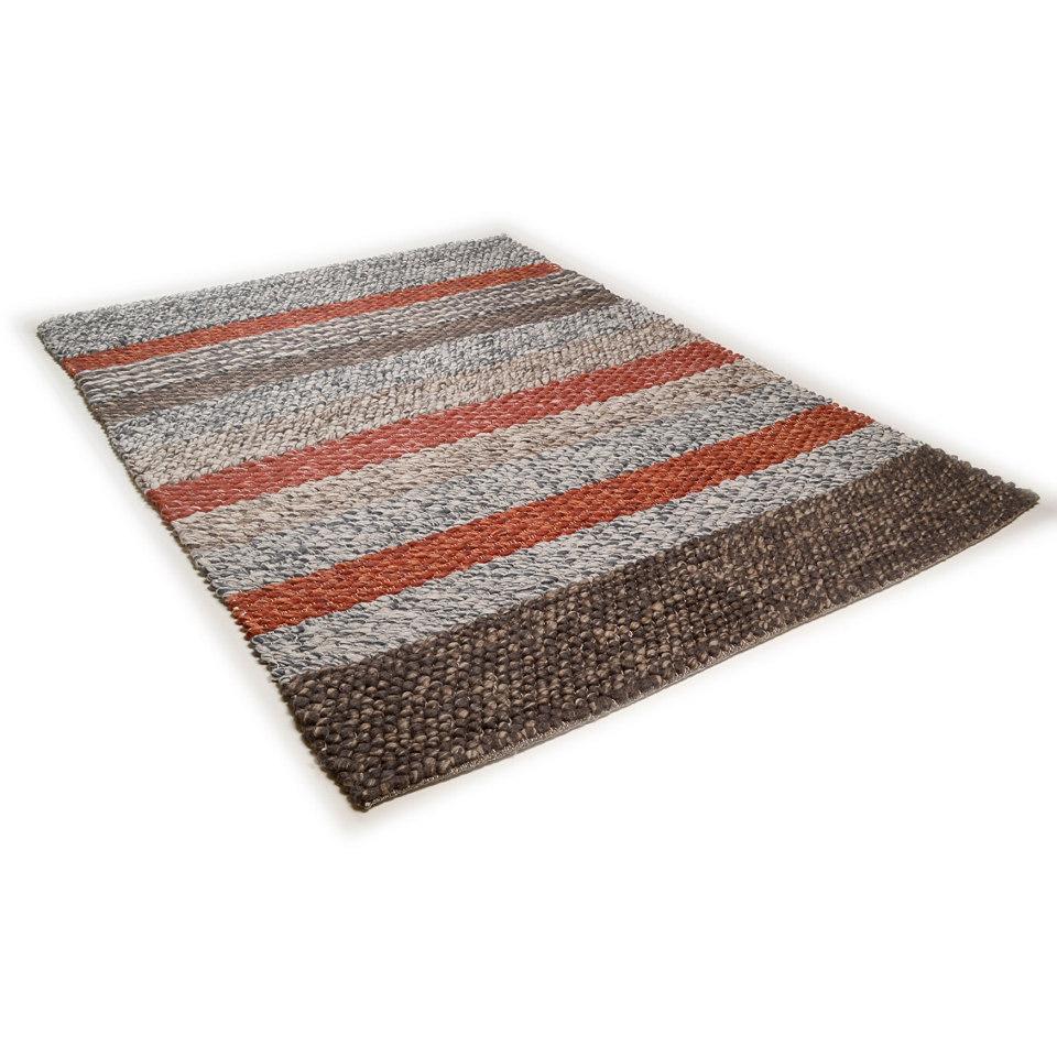 Teppich, Theko, »Modern Weave 1«, handgewebt, reine Schurwolle