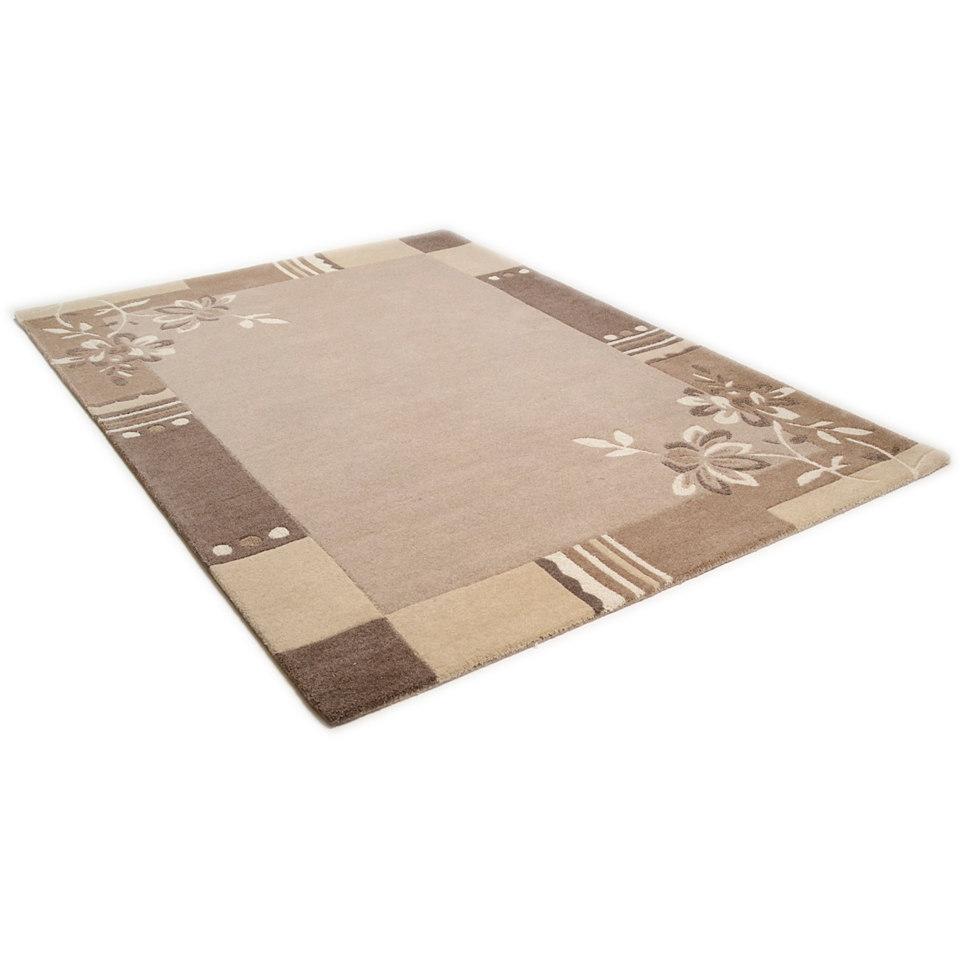 Teppich, Theko, »Napura«, handgearbeitet, Wolle