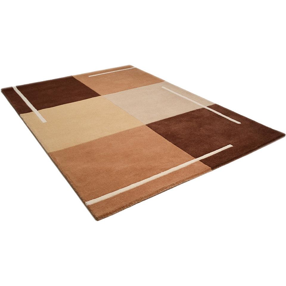 Teppich, Theko, »Ottawa«, handgetuftet, reine Schurwolle